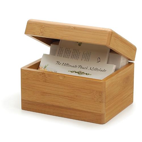 Eco-Friendly Friendly Bamboo Recipe Box