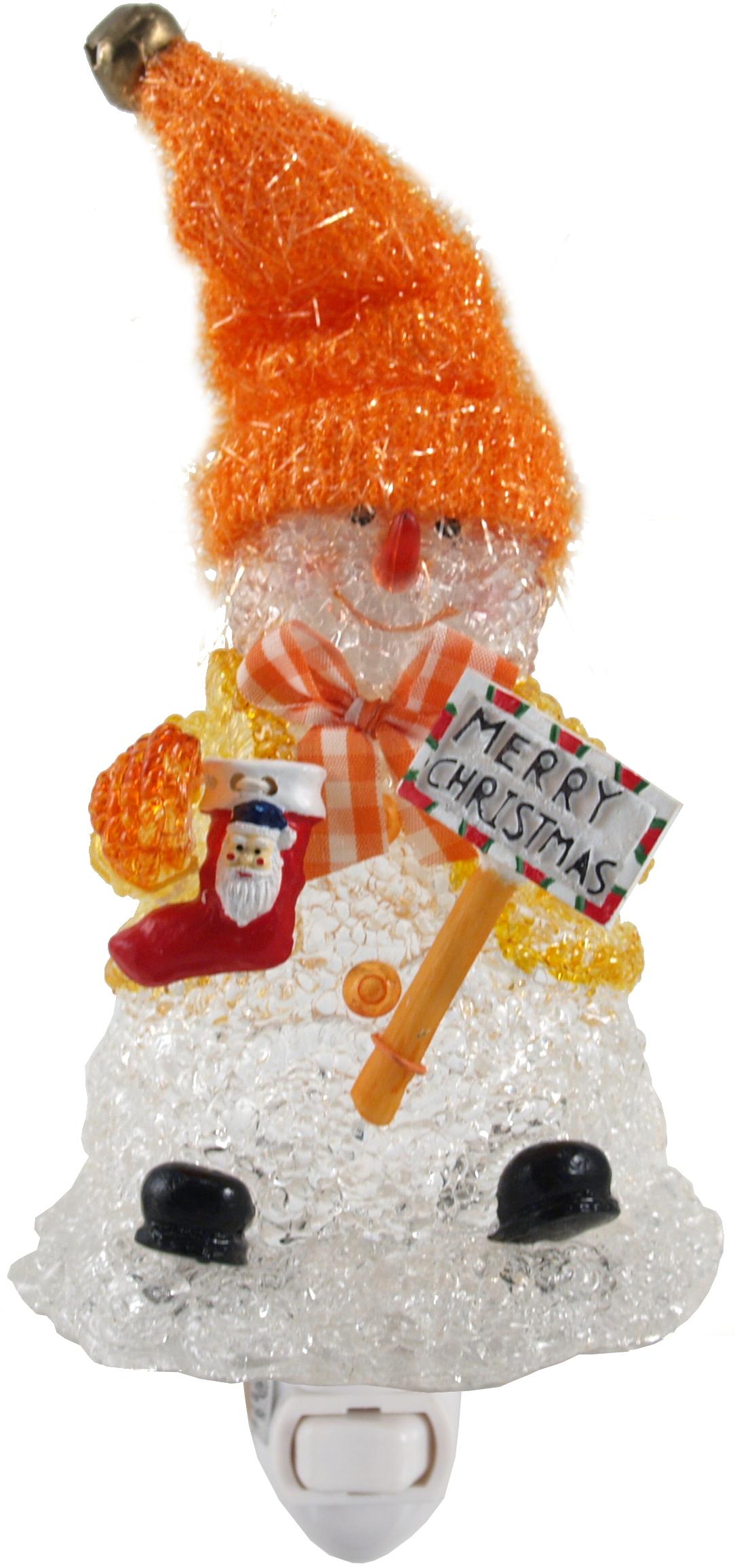 Merry Christmas Snowman Night Light