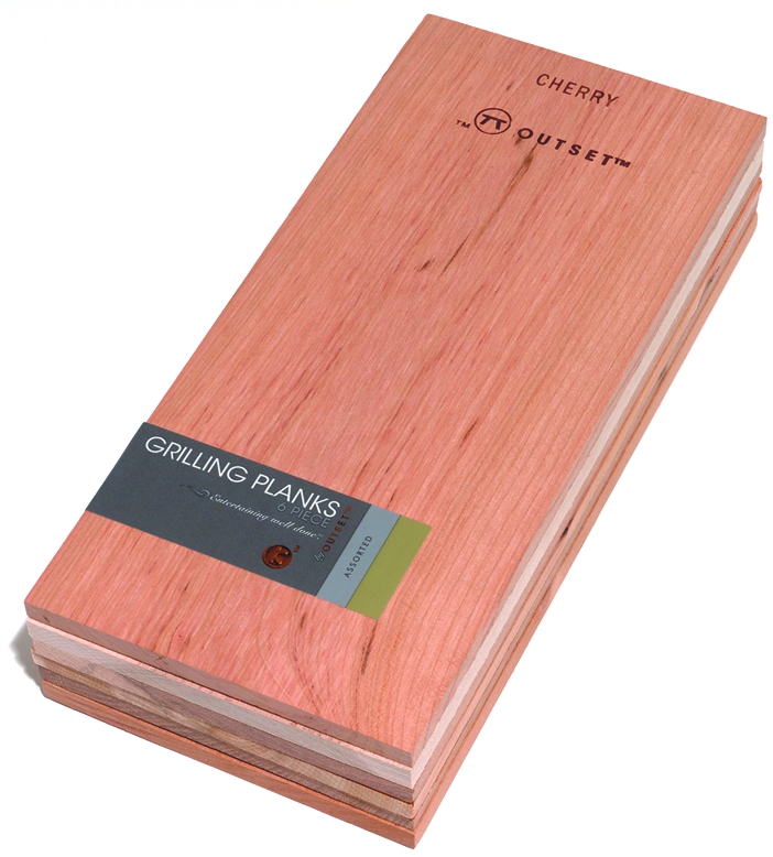 Outset Assorted Wood Grilling Planks, Set of 6