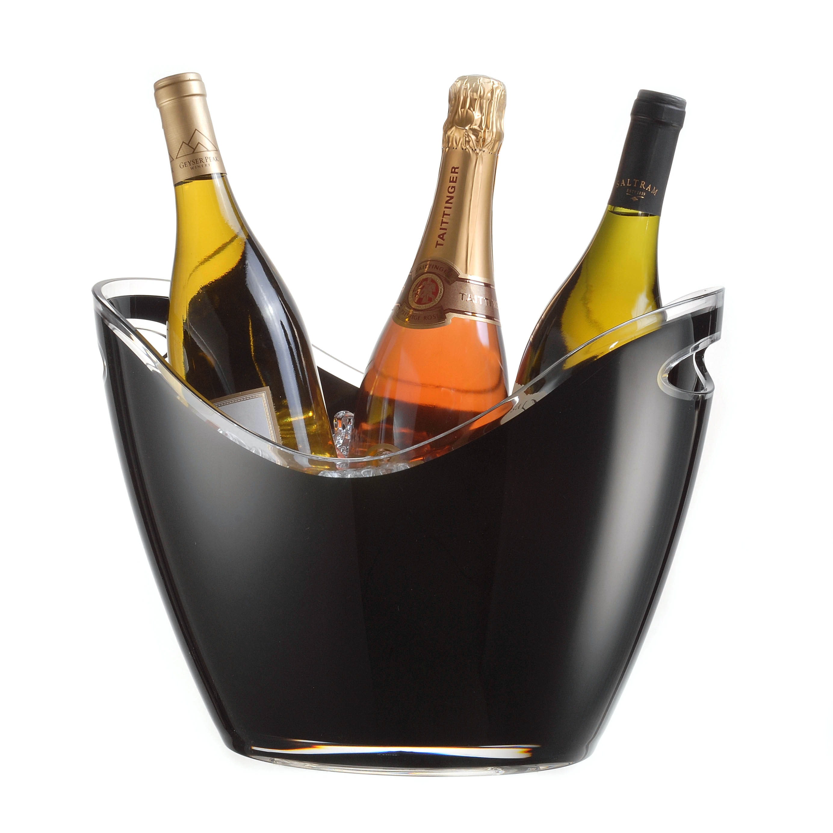 Prodyne Vino Gondola Black 4 Bottle Wine Chiller Tub
