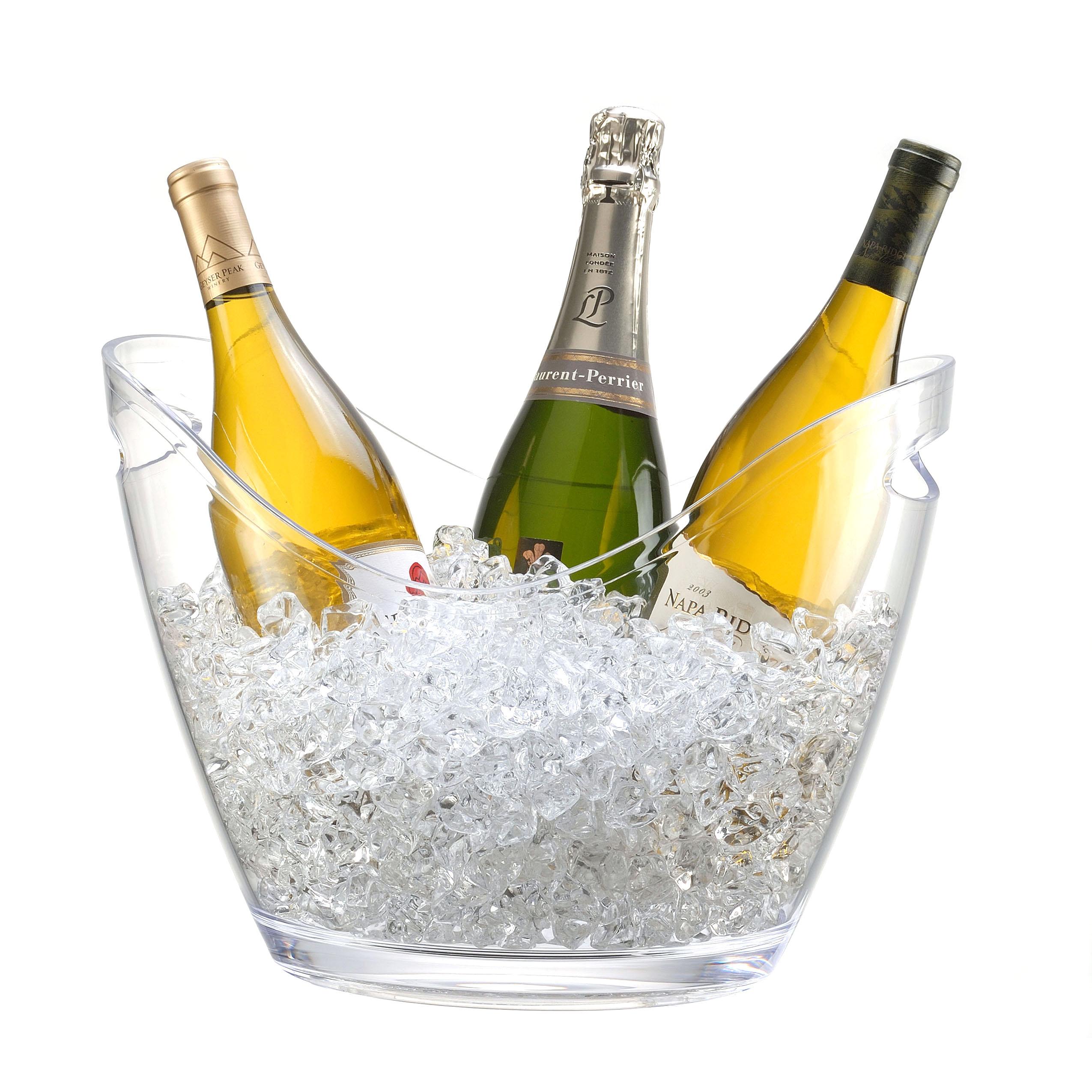 Prodyne Vino Gondola Clear 4 Bottle Wine Chiller