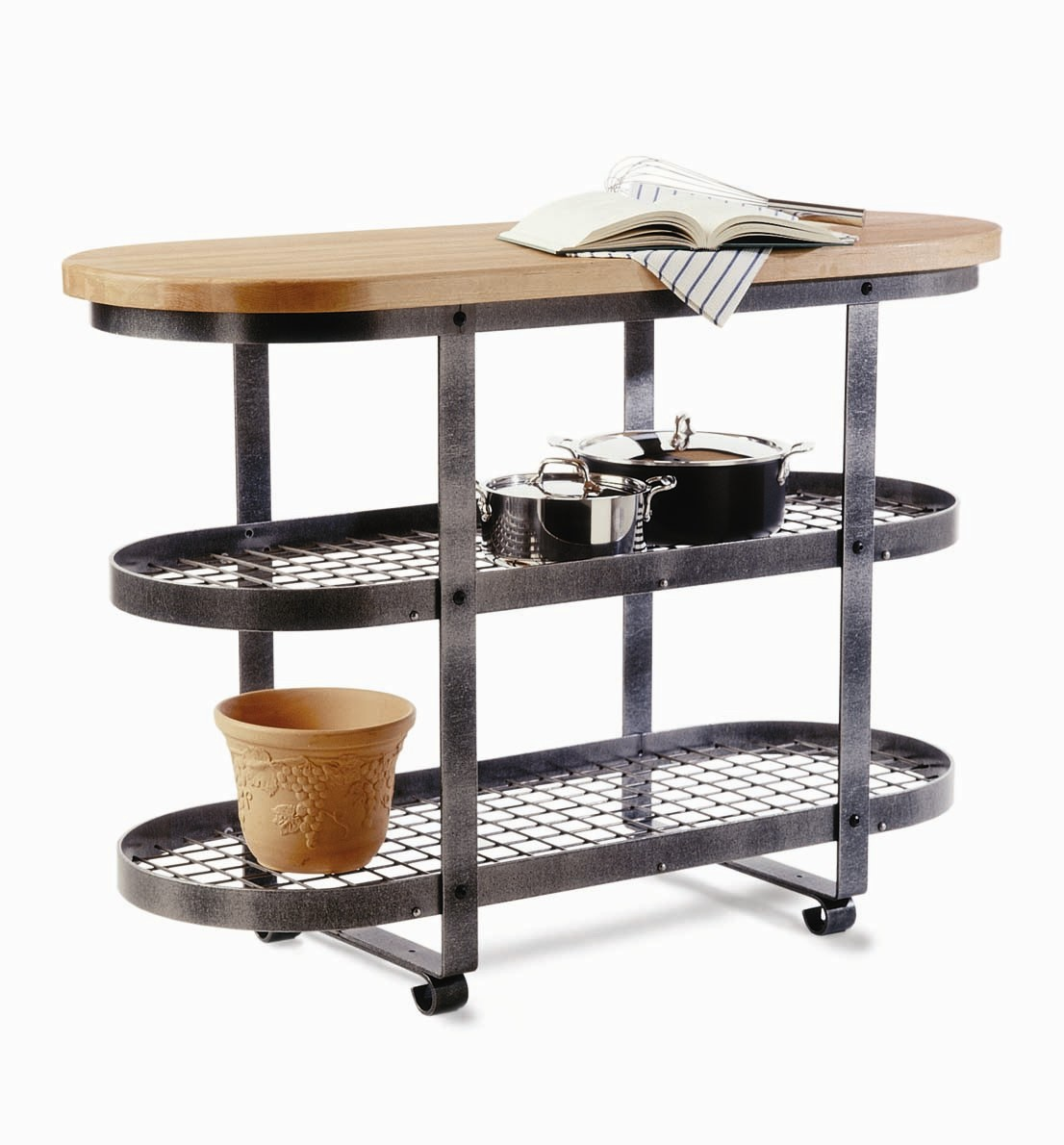 Enclume Eastern Maple & Hammered Steel Gourmet IslandMaple
