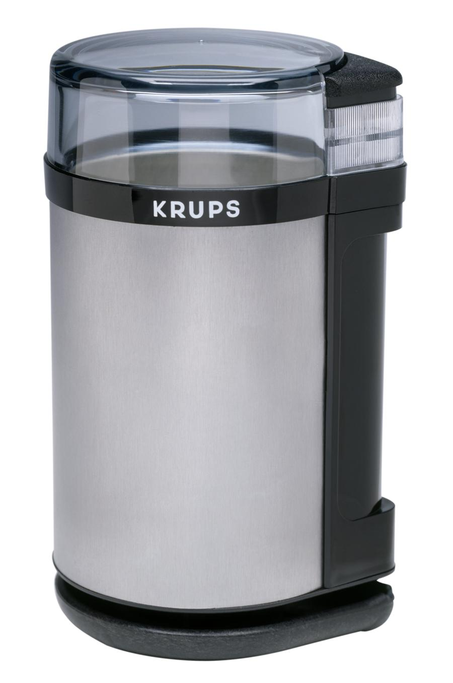 Krups Electric Coffee Grinder and Spice Mill in Black and Stainless Steel