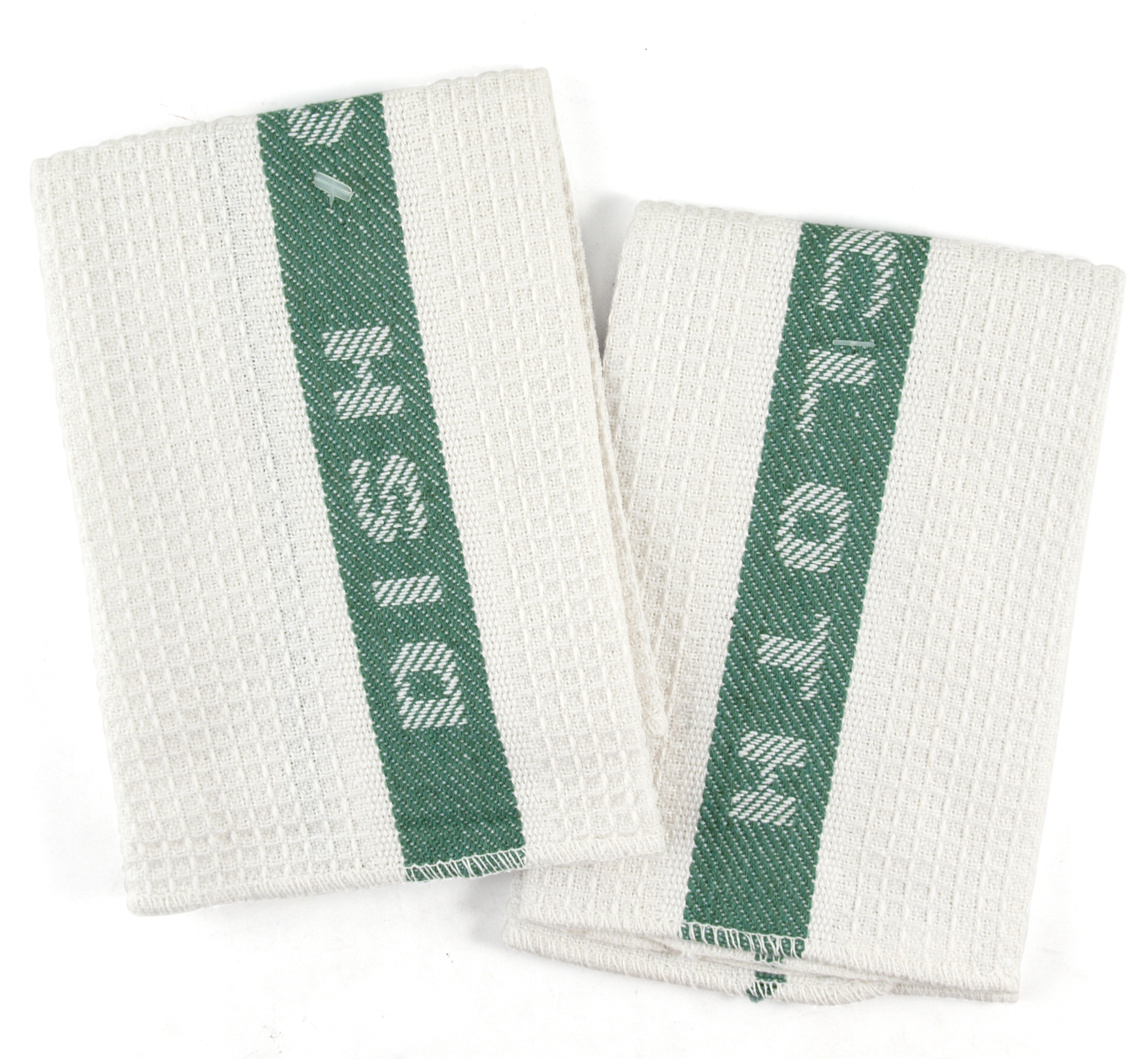 Sage and White Waffle Cotton Kitchen Dish Cloth, Set of 6