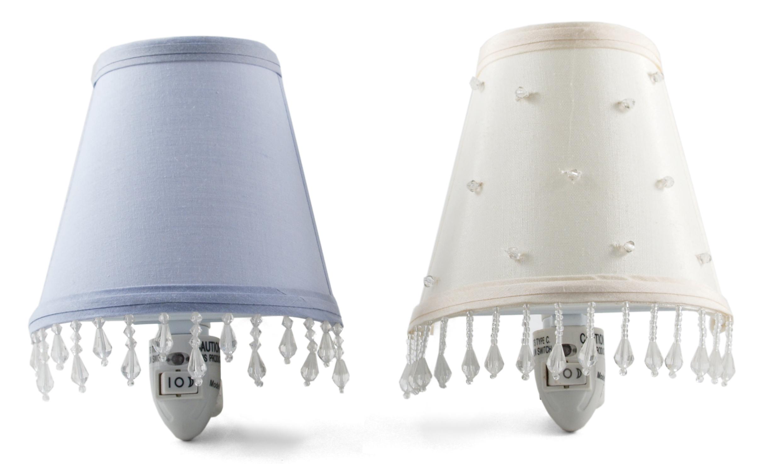Ivory & Lavender Night Light, Set of 2