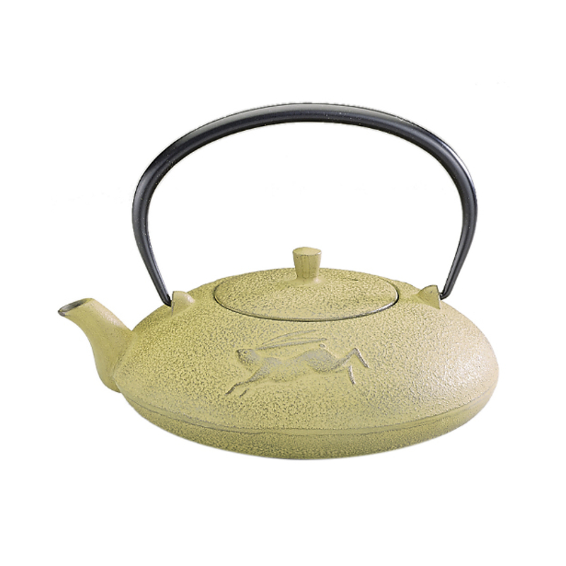 Joyce Chen Yellow Cast Iron Year of the Rabbit Tetsubin Teapot, 16 ounce