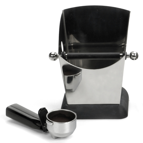 Espresso Knock Box & Tamper Ready Base Stainless Steel