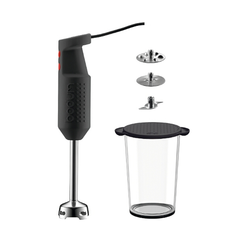Bodum Bistro Electric Blender Stick with Accessories in Black