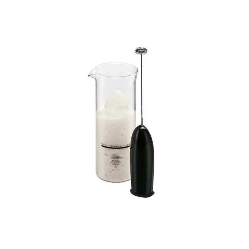Bodum Schiuma Black Electric Milk Frother and Glass Set
