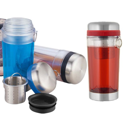 Red Teazer Double Walled Loose Tea Travel Tumbler Mug