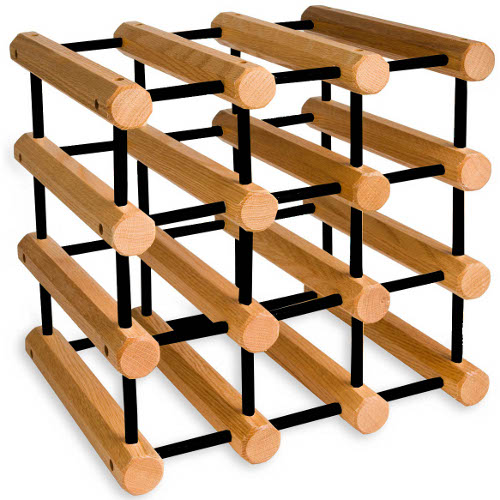 J.K. Adams Penguin Oak Wine Rack, 12 Bottle