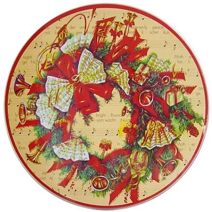 Musical Wreath Christmas Music Bows Stove Burner Covers, Set of 4
