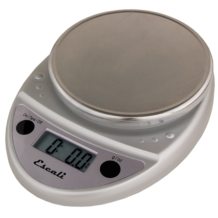 Escali Primo Chrome Digital Scale 11 lb / 5 Kg