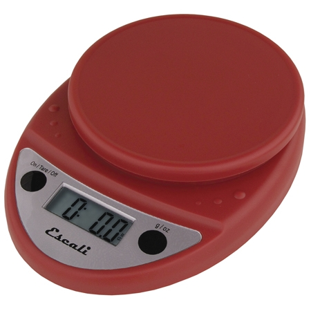 Escali Primo Warm Red Digital Scale 11 lb / 5 Kg