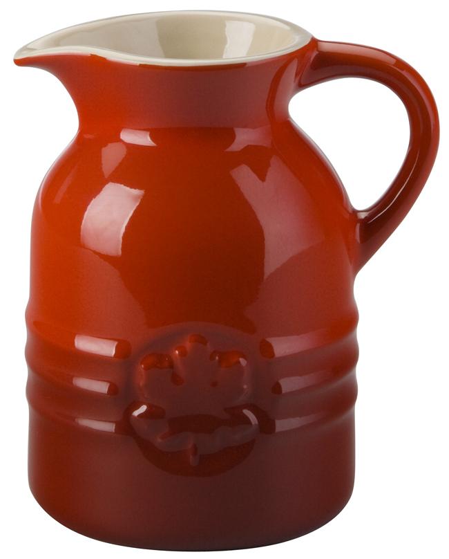 Le Creuset Cherry Stoneware Syrup Jar 8 Ounce