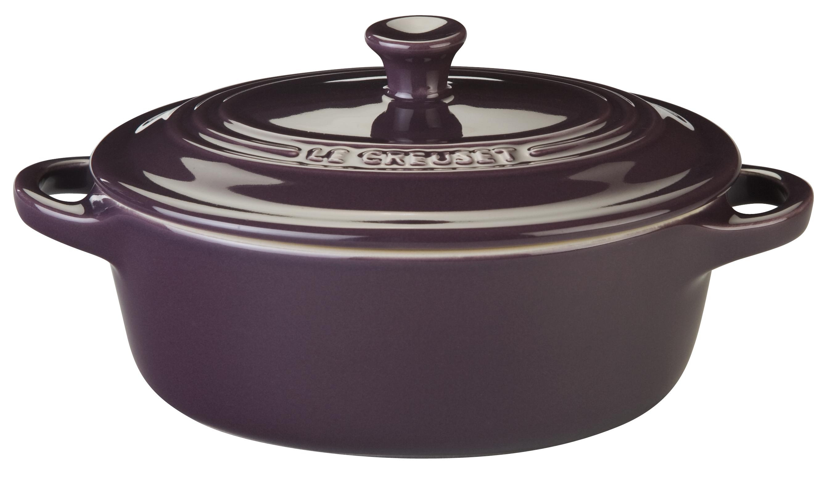 Le Creuset Violet Stoneware Oval Mini Cocotte, 12 Ounce