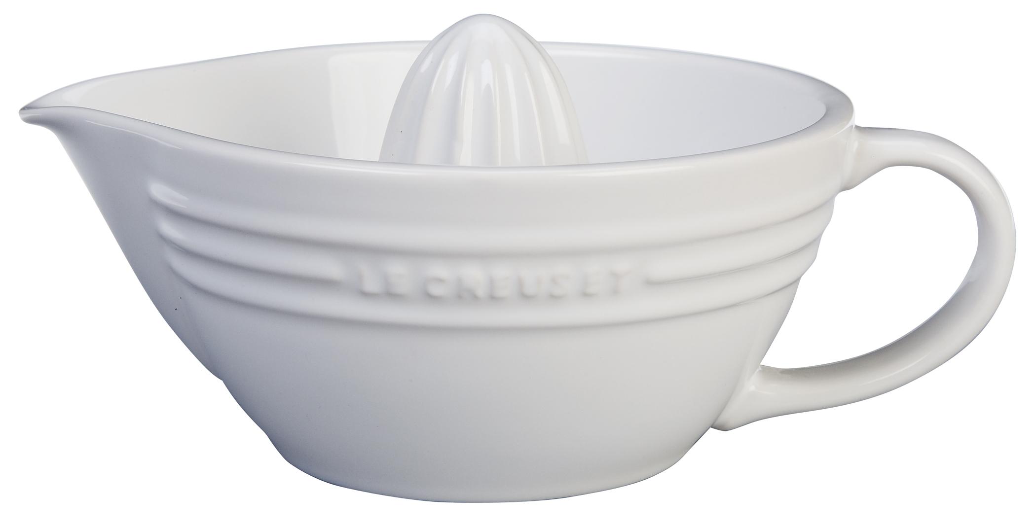 Le Creuset White Stoneware Citrus Juicer