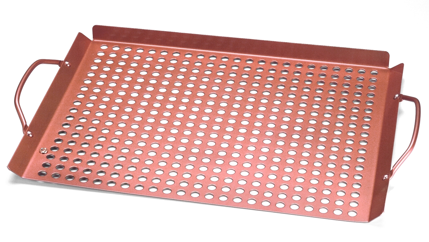 Outset Copper Nonstick Large Grill Grid with Handles