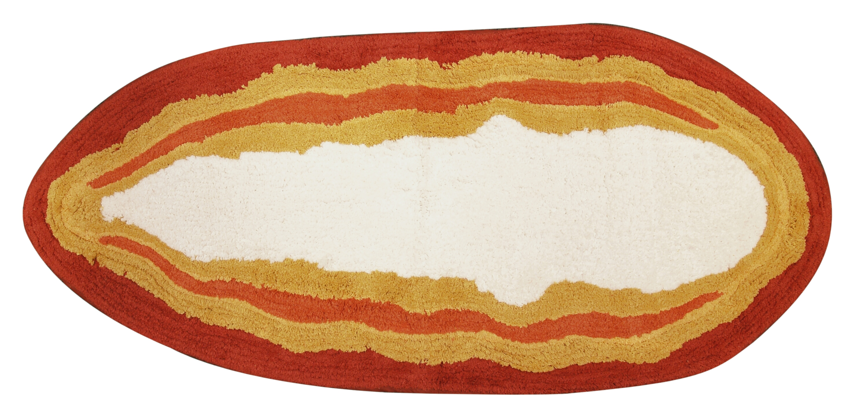 Studebaker Hawaiian Boogie Board Cotton Bathroom Mat