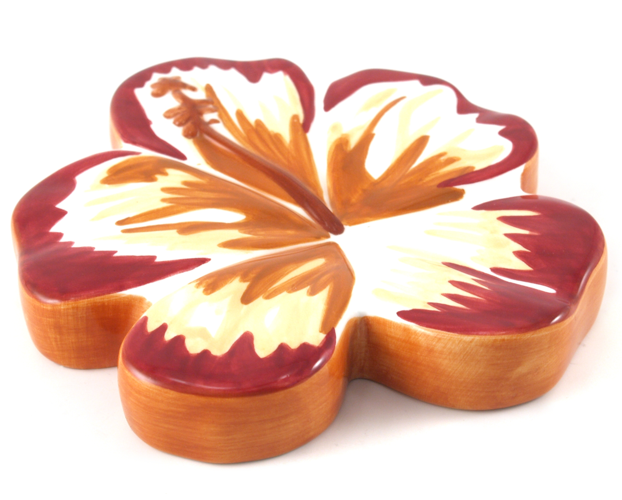 Studebaker Hawaiian Hibiscus Ceramic Soap Tray