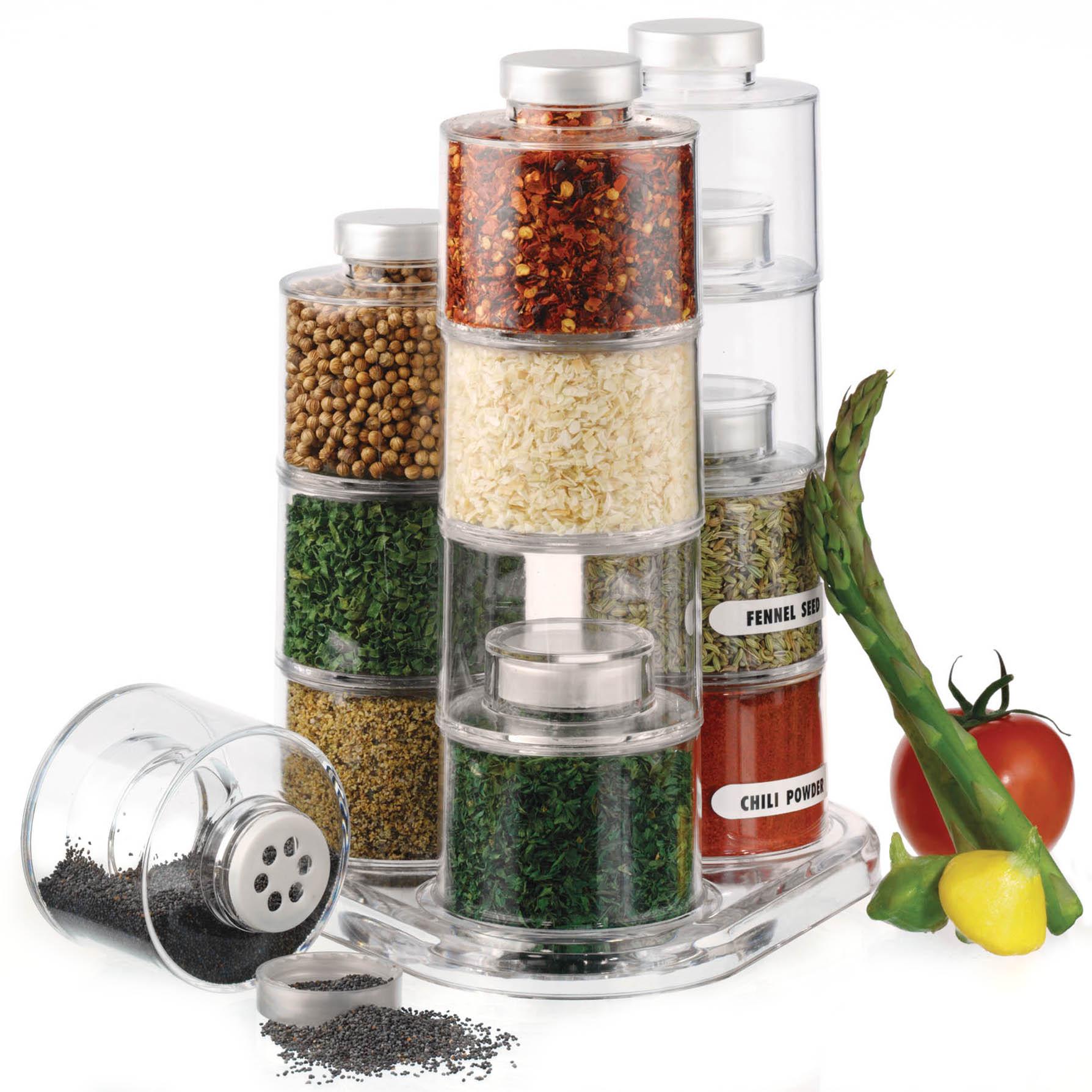 Prodyne 12 Bottle Acrylic Spice Tower CarouselBottle