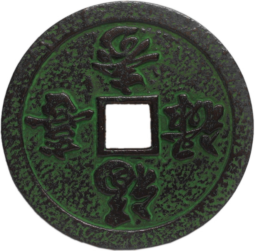 Green 4 Seasons Cast Iron Trivet for Japanese Tetsubin