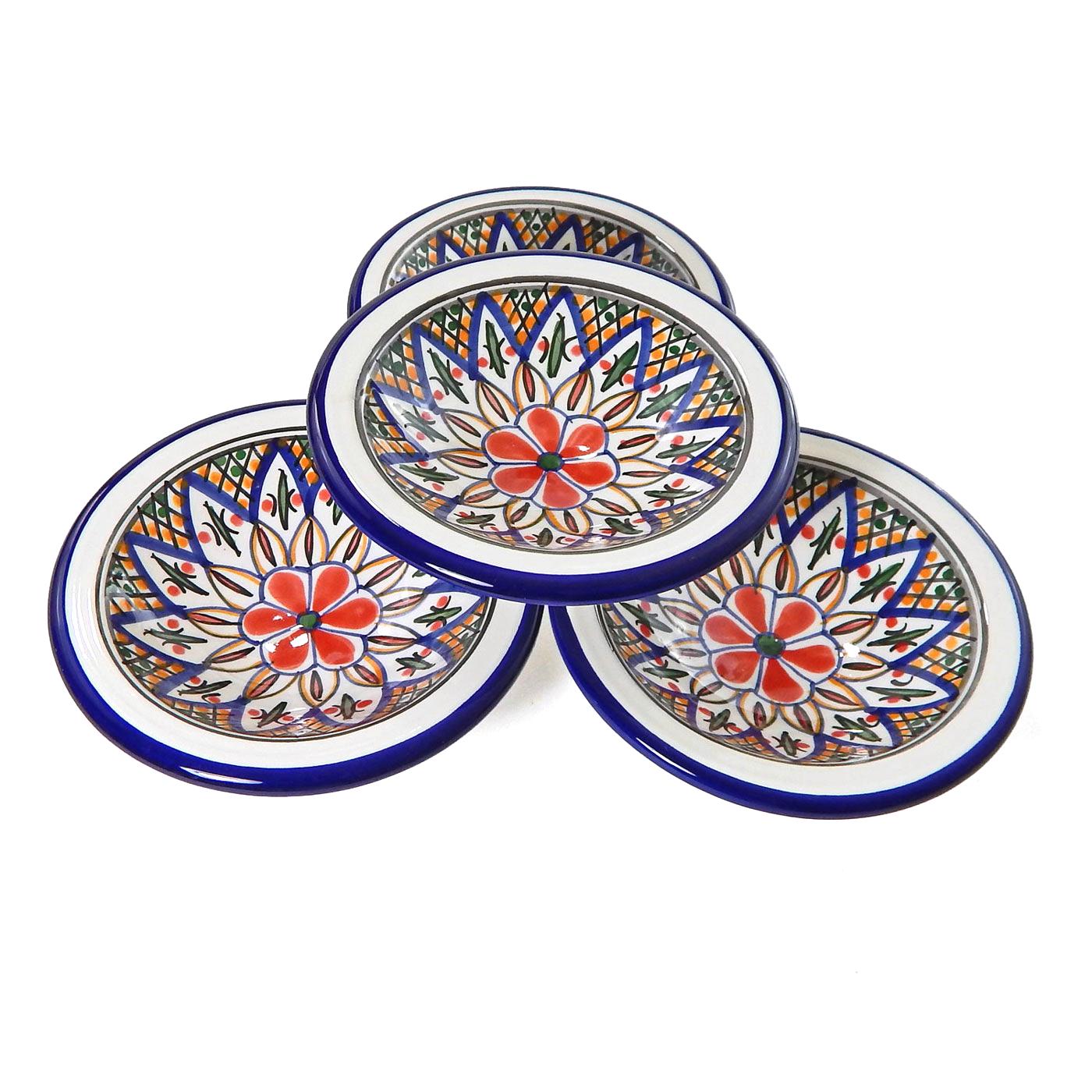 Le Souk Ceramique Tabarka Round Sauce Dish, Set of 4