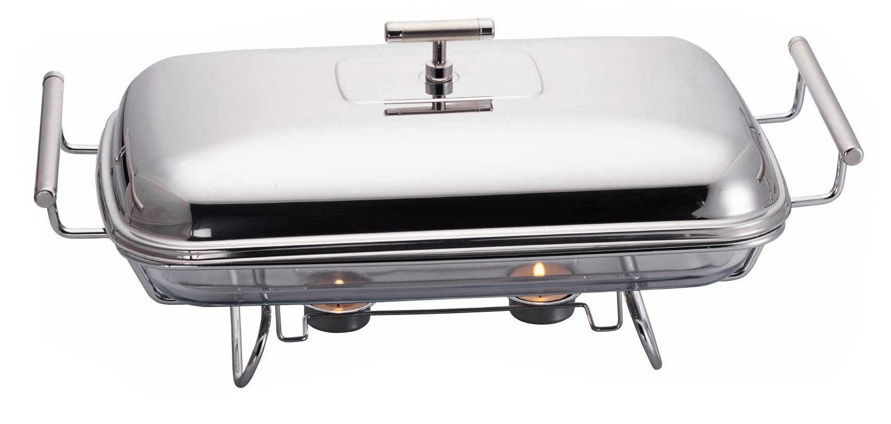 Single Rectangular Stainless Steel Buffet Warmer & Chafing Dish