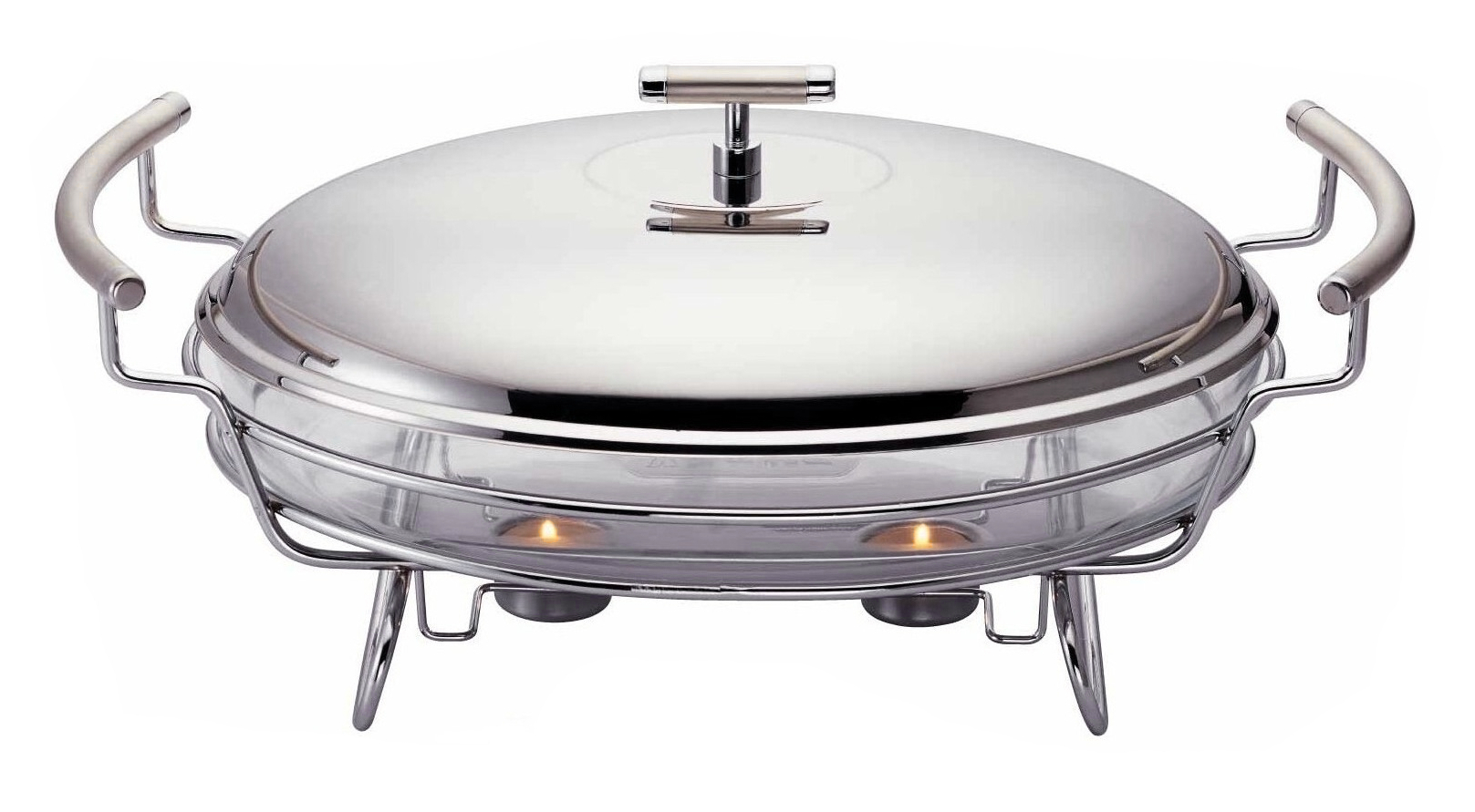 Single Oval Stainless Steel Buffet Warmer & Chafing Dish