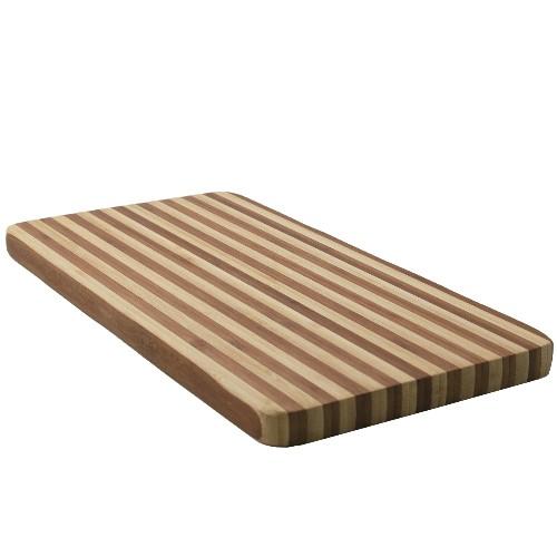 Striped Two Tone  Bamboo Cutting Board