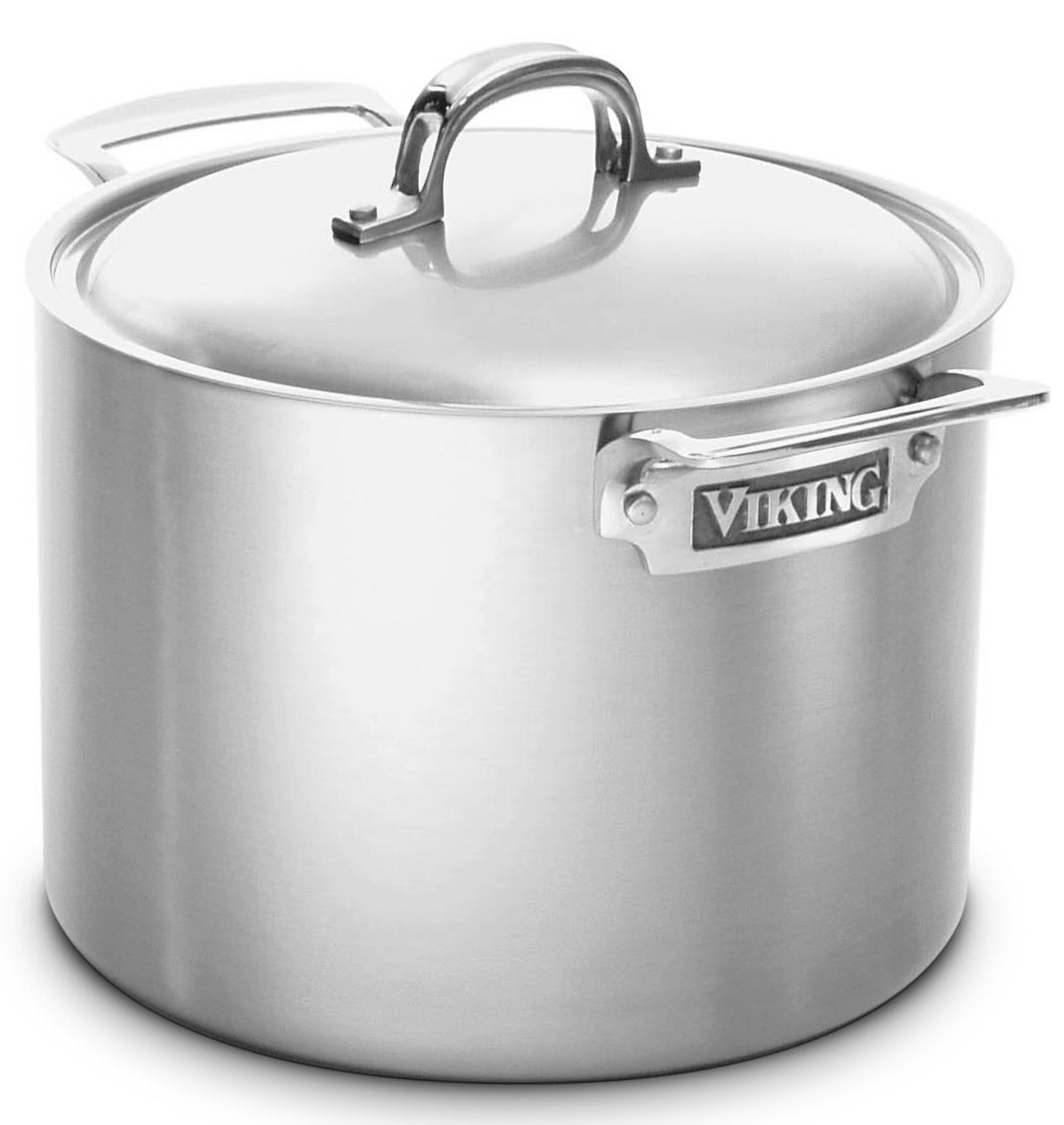 Viking Professional Stainless Steel Covered Stock Pot 8 Quart