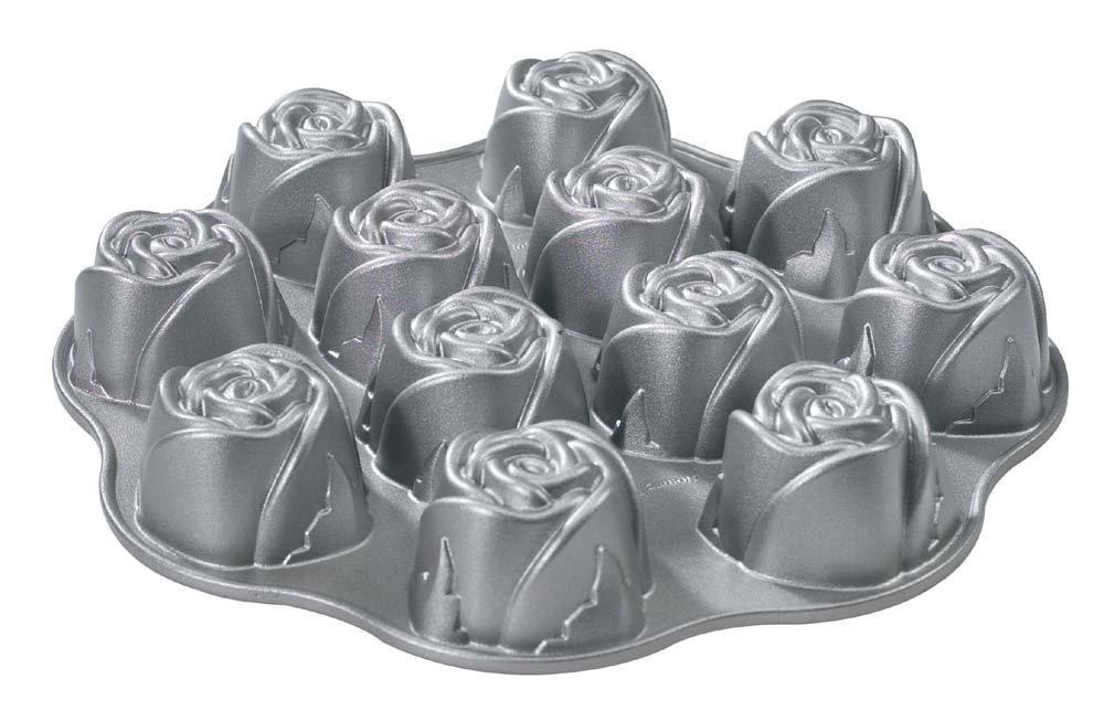 Nordic Ware Platinum Bakeware Sweetheart Rose Cakelet Pan
