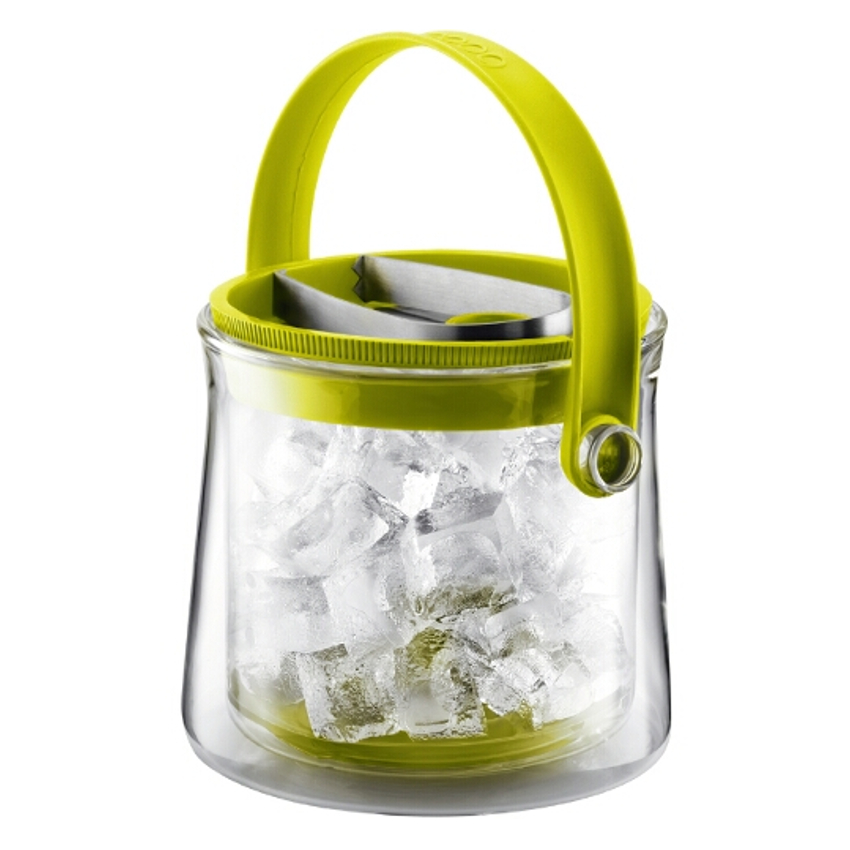 Bodum Cool Double Wall Glass Ice Bucket in Green