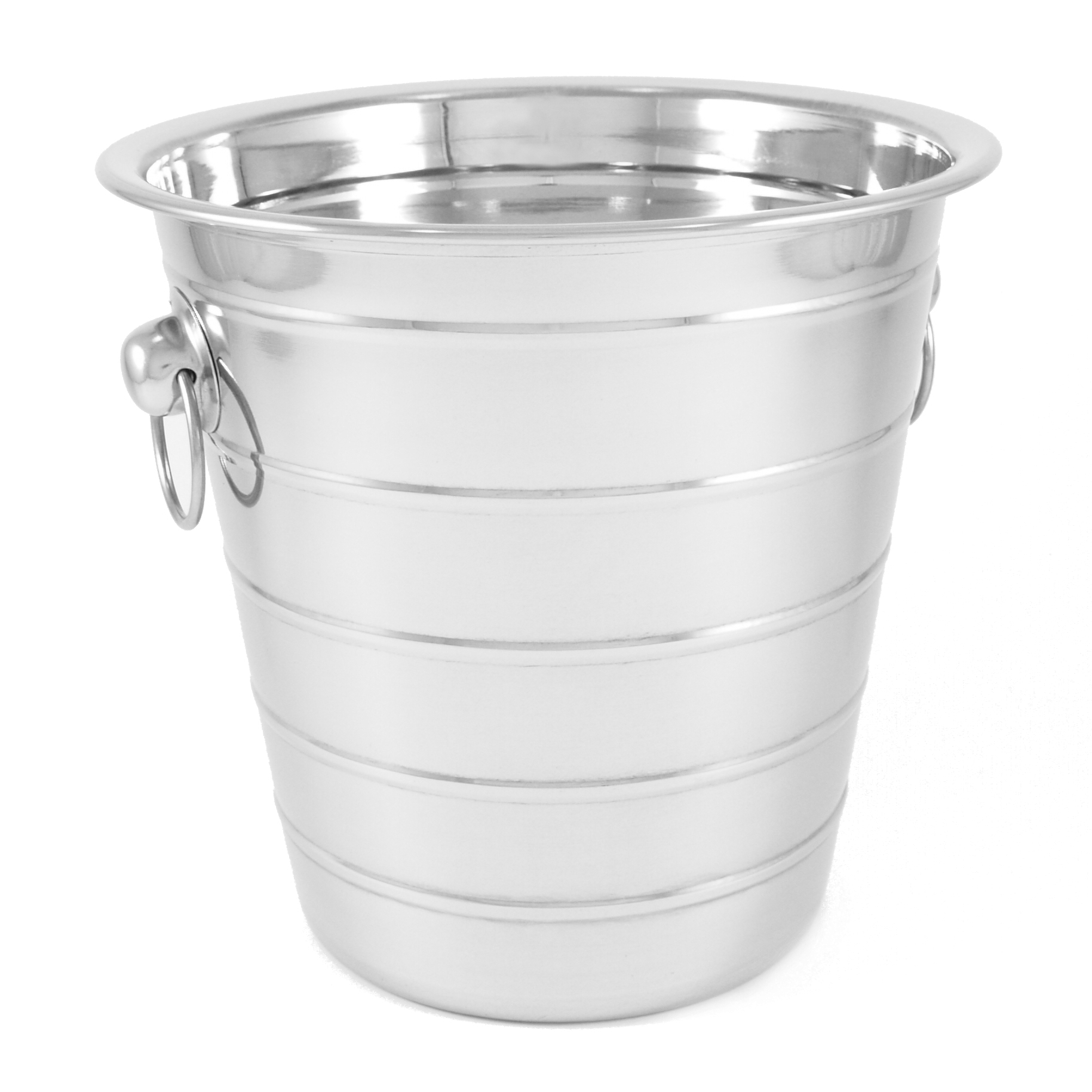 Stainless Steel Ribbed Ice Bucket 5 Quart