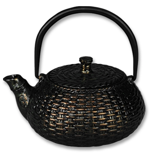 Old Dutch Metallic Copper Cast Iron Japanese Tetsubin Teapot, 20 Ounce