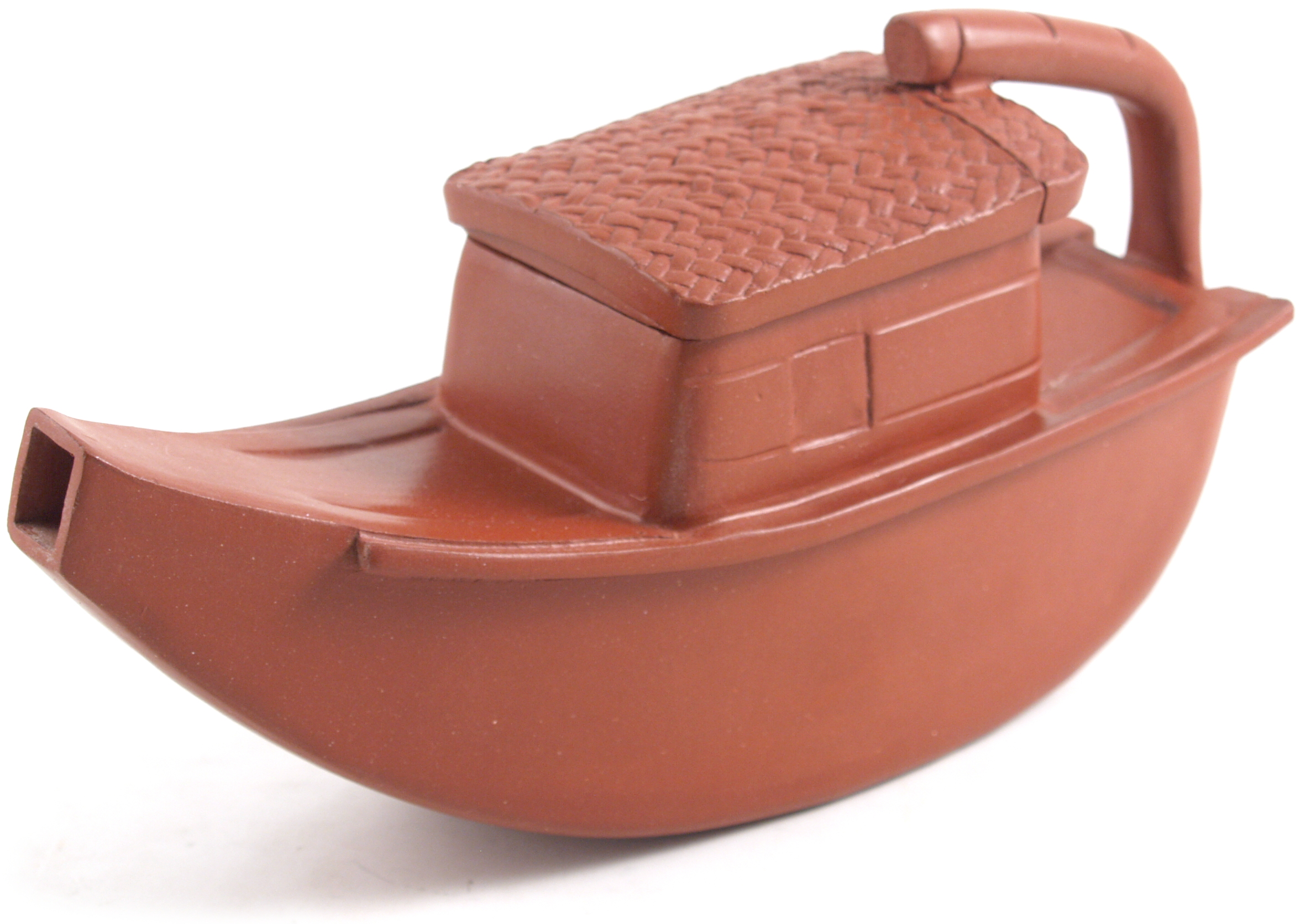 Yixling Clay Boat Teapot for One 7 Ounce