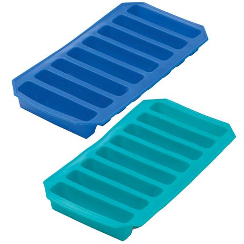 Progressive Ice 'n Slice Blue and Aqua Bottle Ice Tray, Set of 2