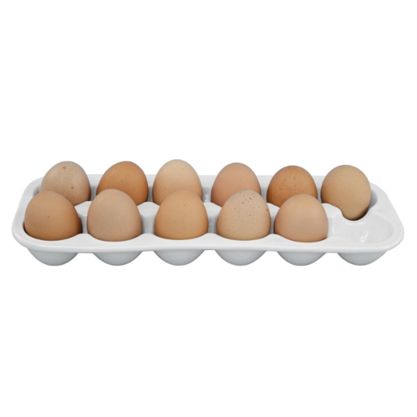 Grill Friends White Porcelain Egg Tray