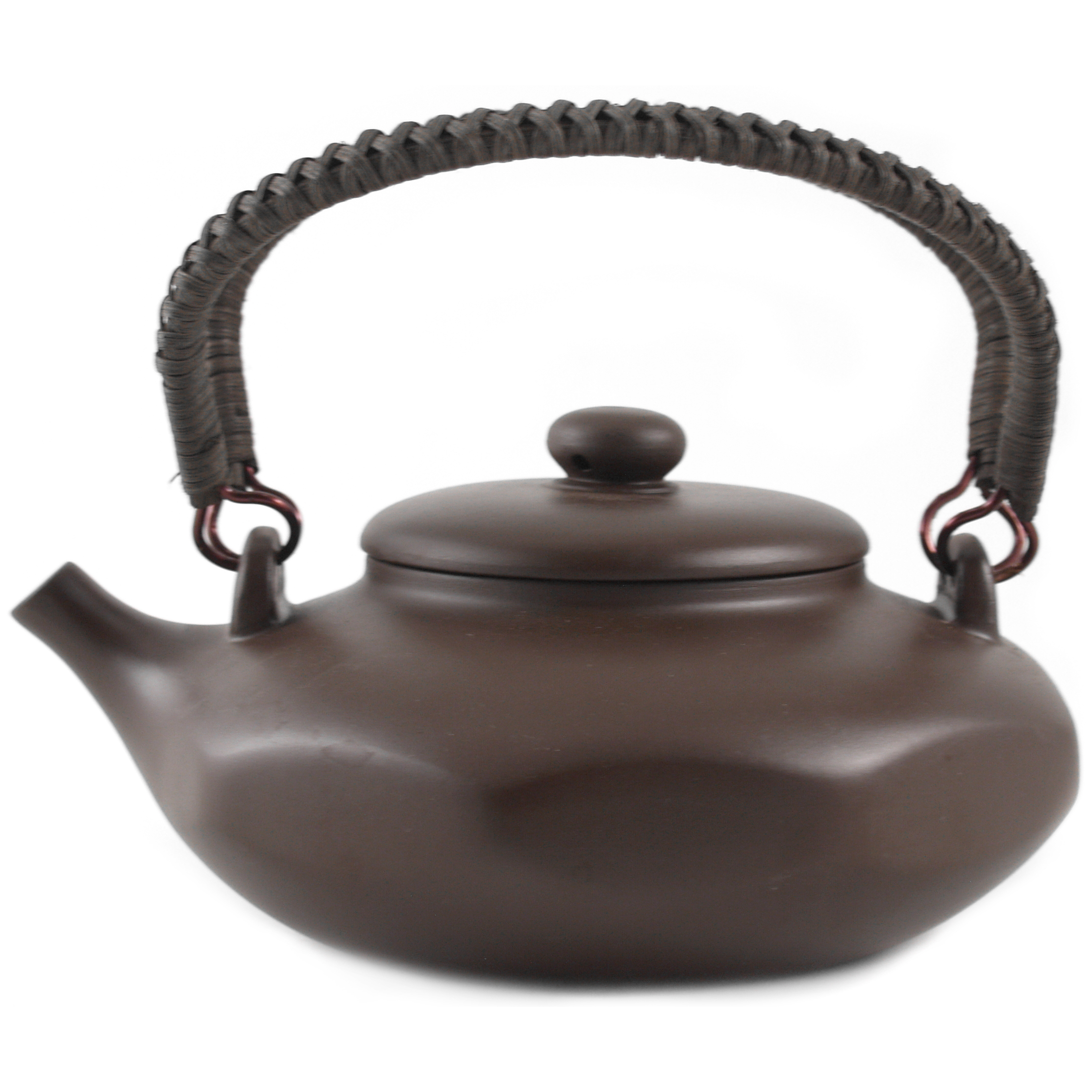 Yixing Clay Nonagon Braided Teapot, 16 Ounce