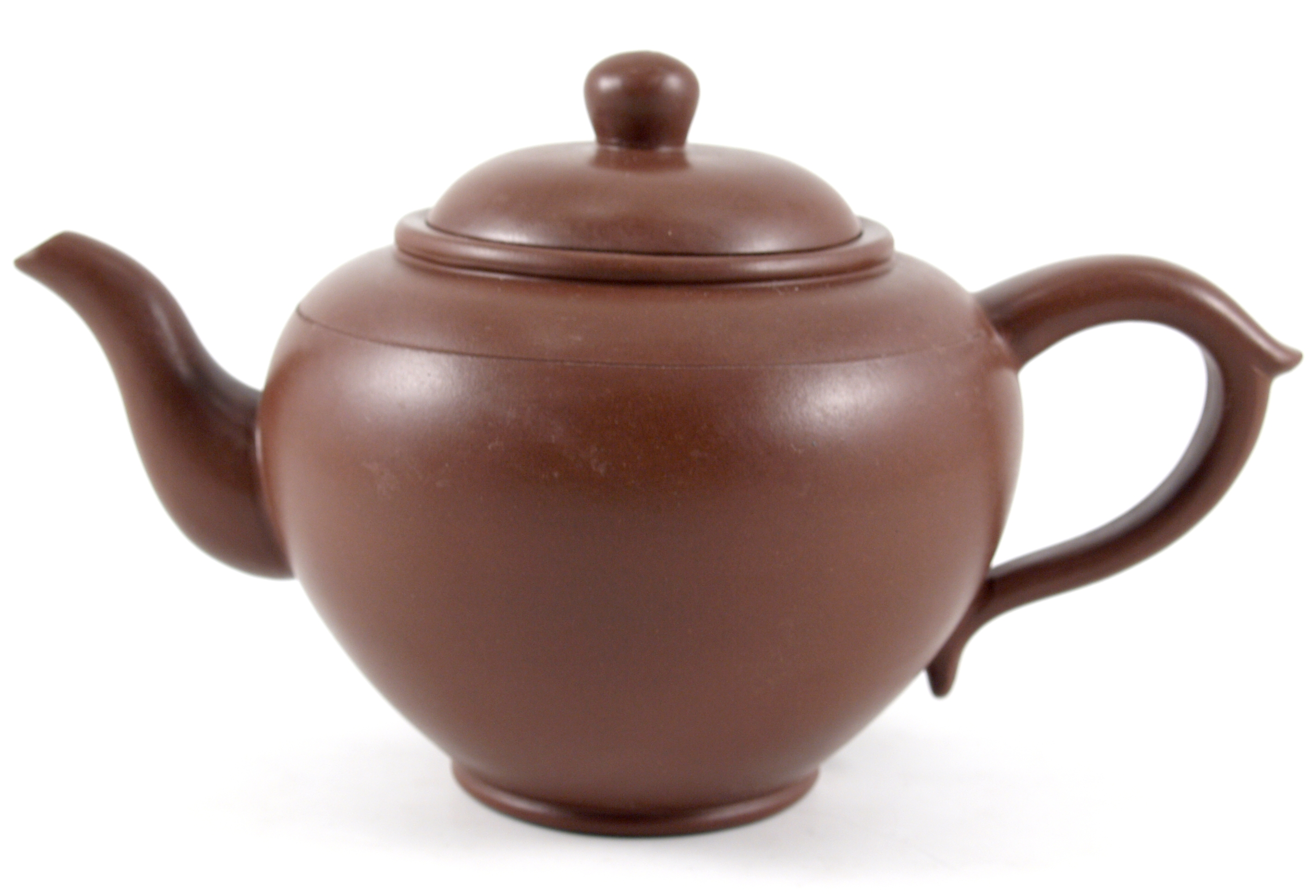 Yixing Clay Peach Shape Teapot 20 Ounce