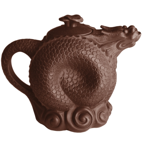 Curled Unique Dragon Yixing Clay Teapot 23 oz