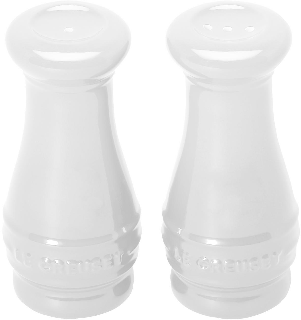 Le Creuset White Stoneware Salt and Pepper Shaker Set