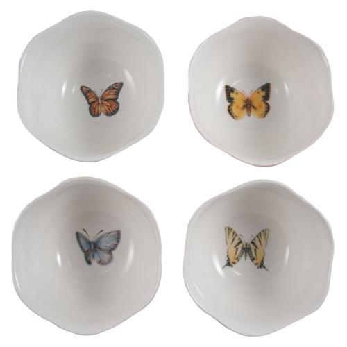 Lenox Butterfly Meadow Porcelain Assorted Dessert Bowl, Set of 4
