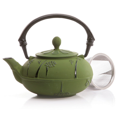 Japanese Tetsubin Green Cast Iron Teapot