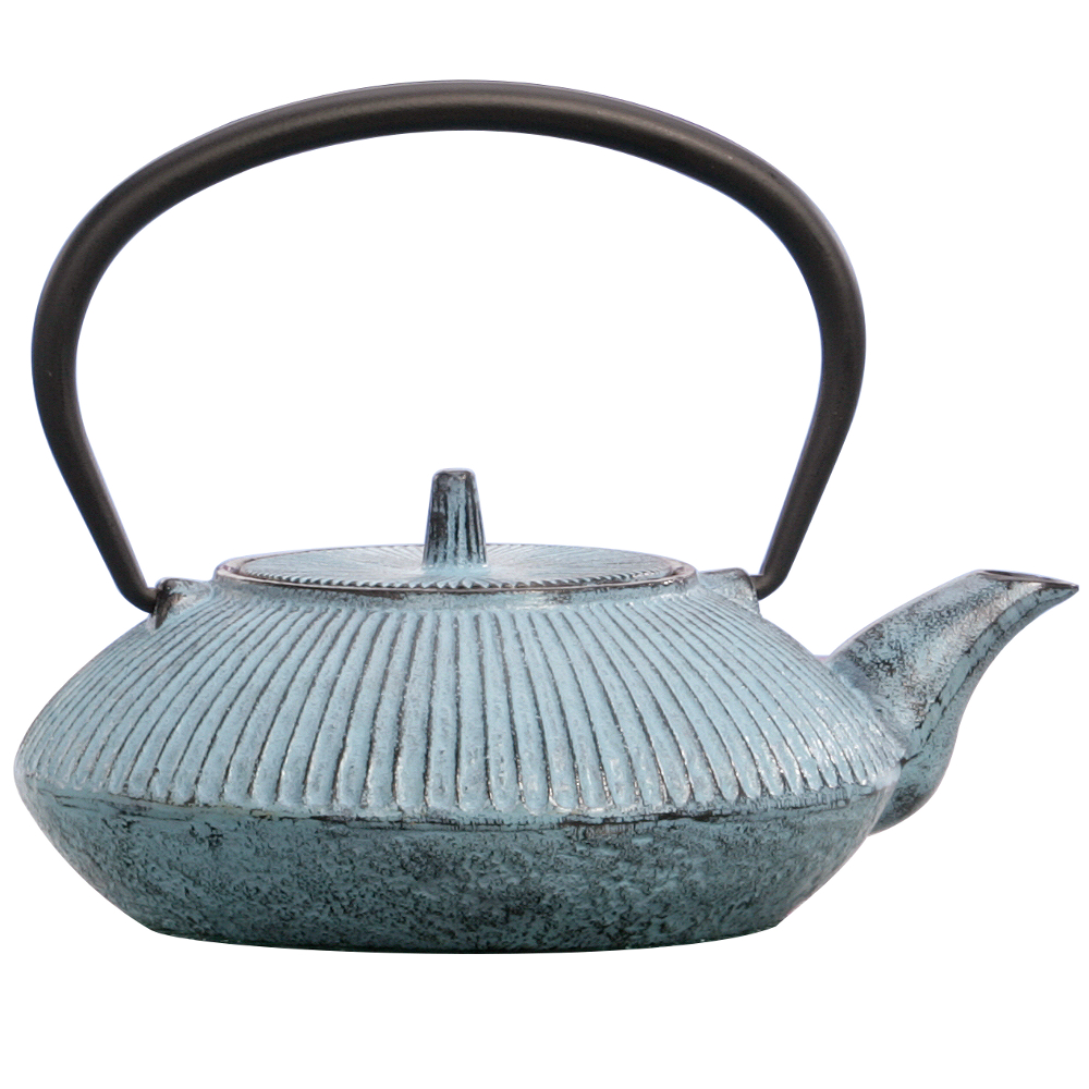 Japanese Tetsubin Cast Iron Blue Ice 20 oz. Teapot