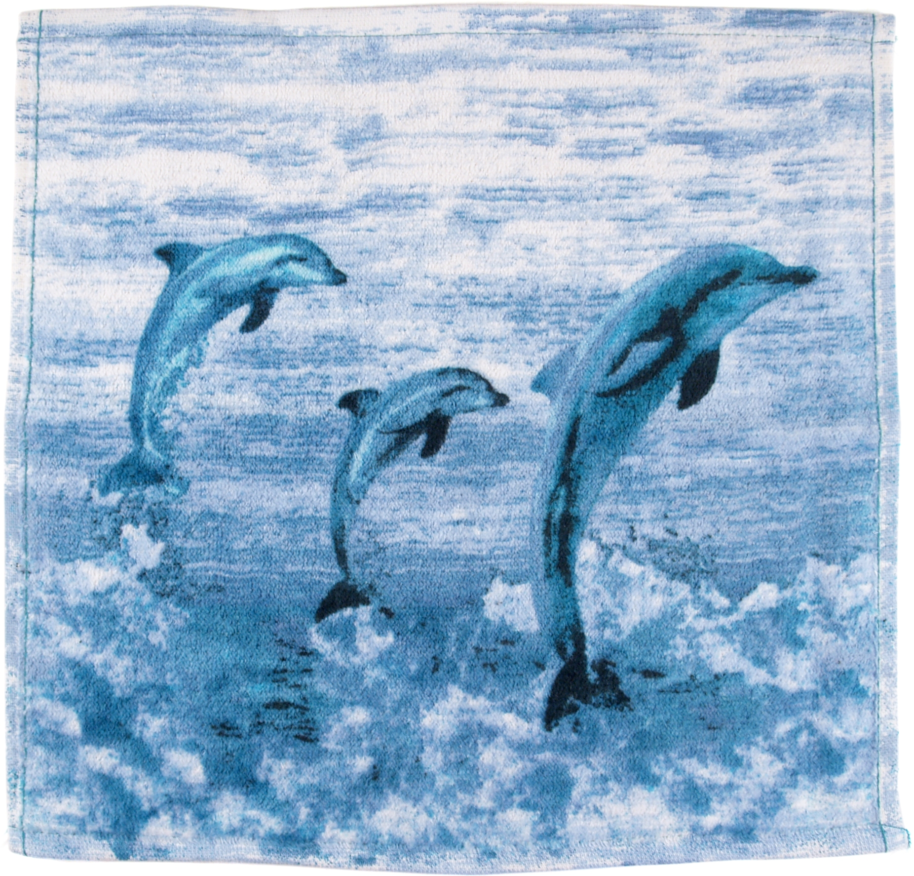 Blue Jumping Dolphins Wash Cloth, Set of 6