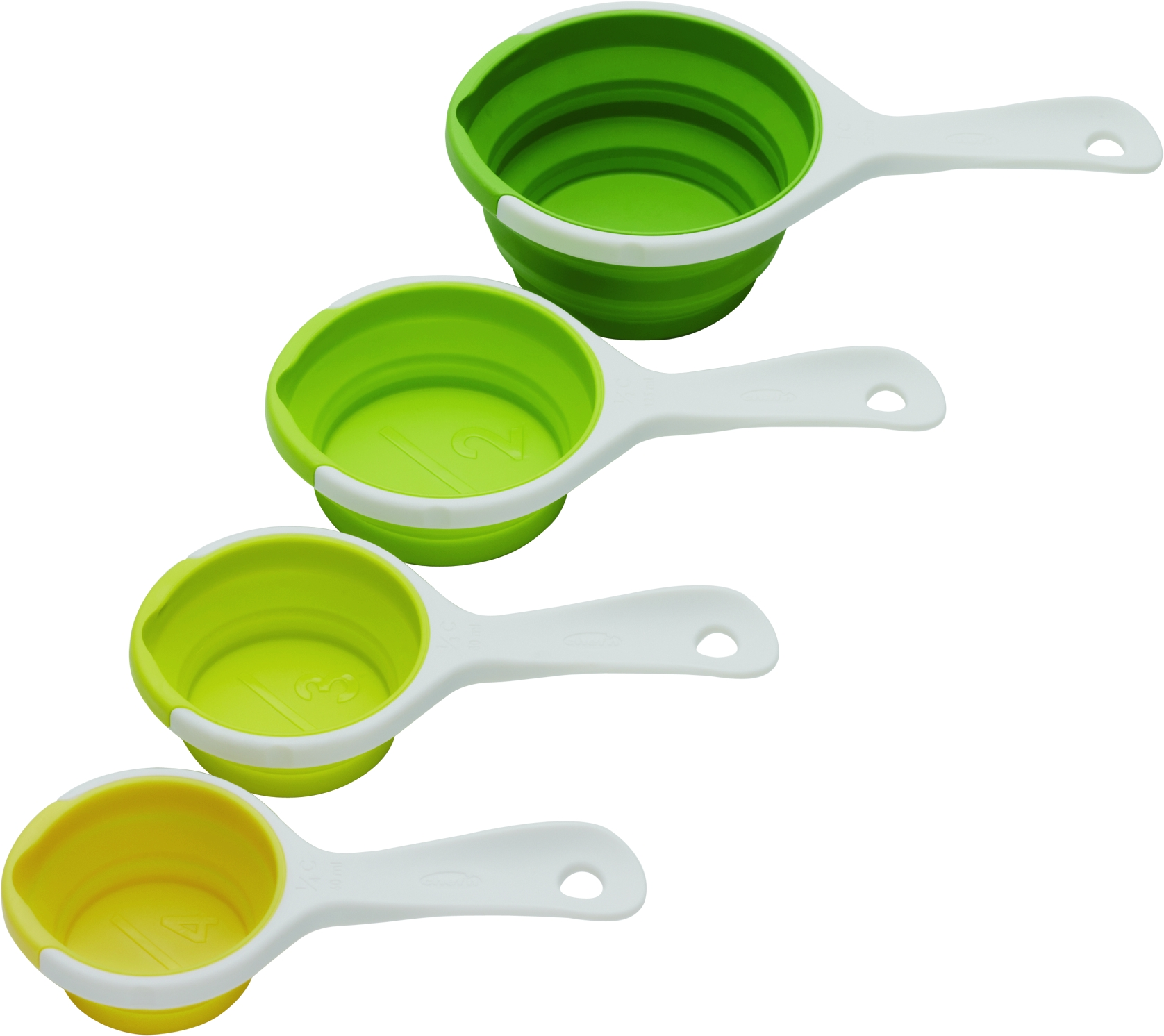 Chef'n Sleekstor Collapsible Pinch and Pour Measuring Cup Set in Green Multi Colors