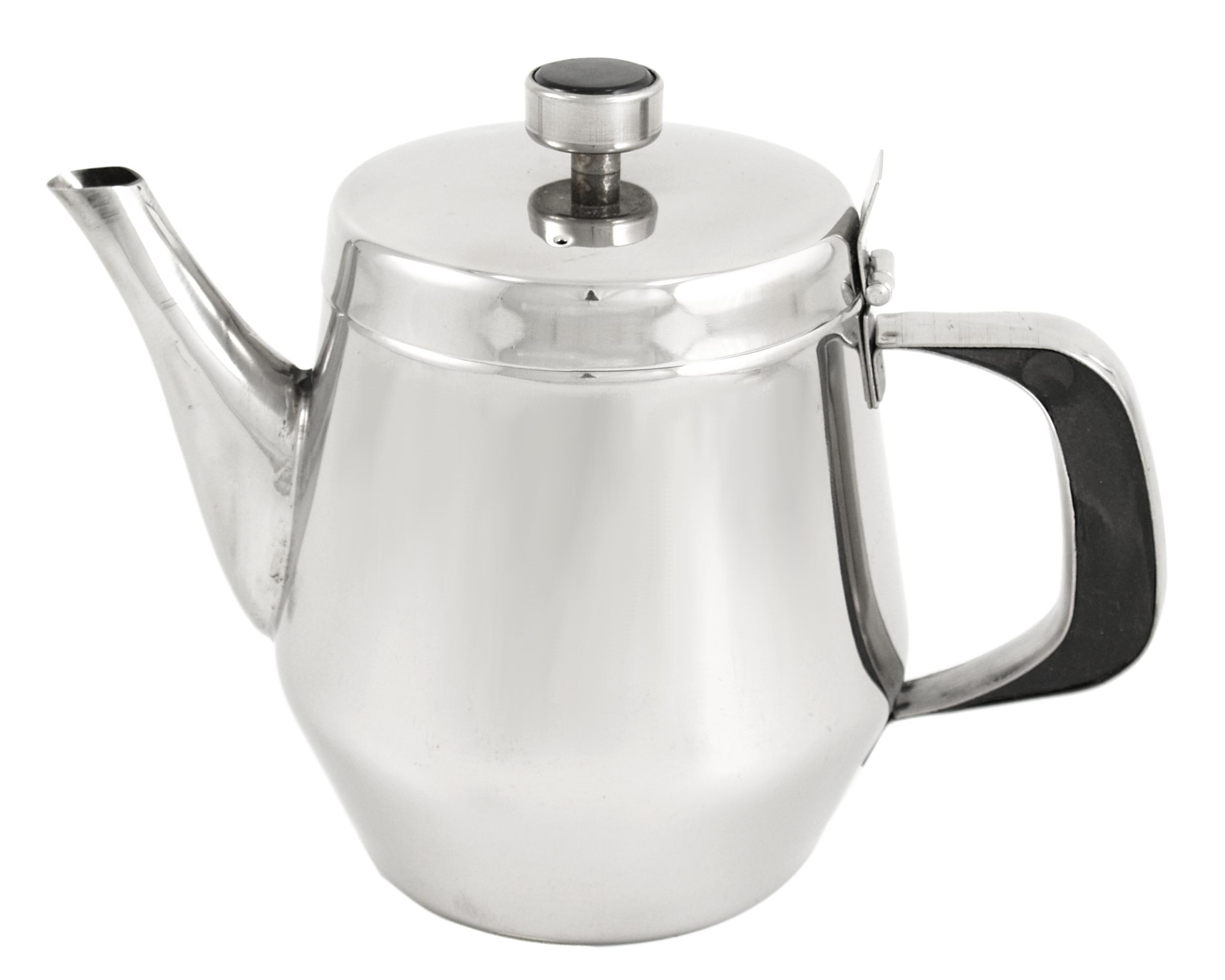 Asian Restaurant Style Stainless Steel 32 oz Teapot