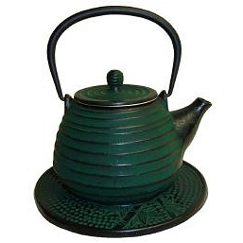 Japanese Tetsubin Cast Iron Green Beehive 26oz. Teapot