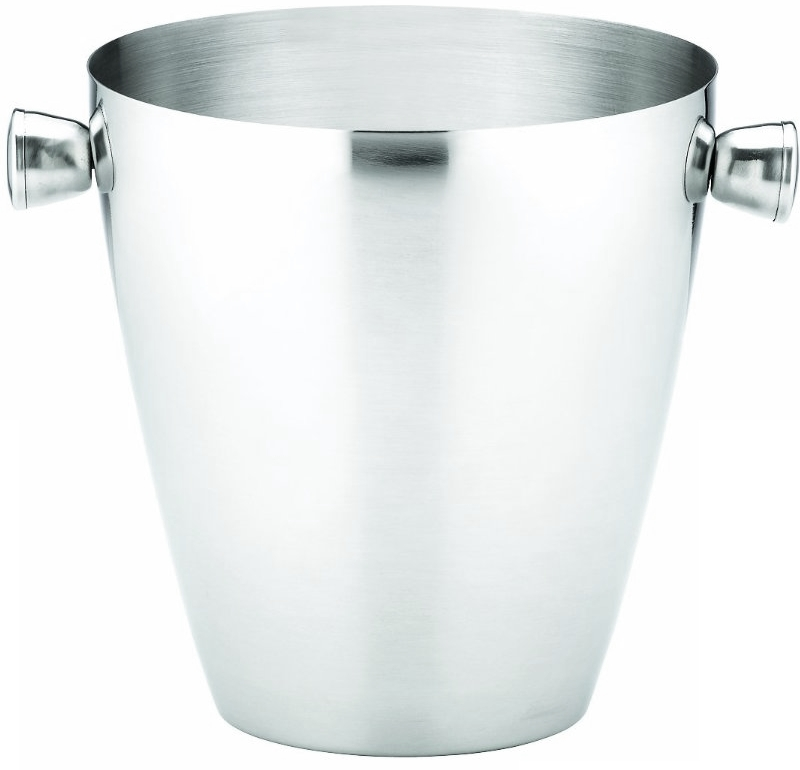 Gorham That's Entertainment Brushed Stainless Steel Ice Bucket